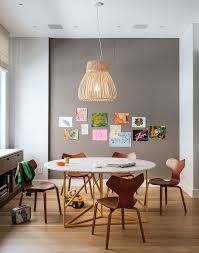 Catch Restaurant Nyc With Contemporary Kids Also Drum Pendant Gray Bulletin Board Wall Kids Artwork Kids Drawing Kids Playroom Kids Room Kids Wall Art Marble Dining Table Tackboard Wall White Wall Wood