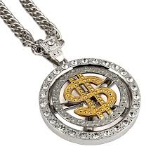 gold dollar sign necklace pendant
