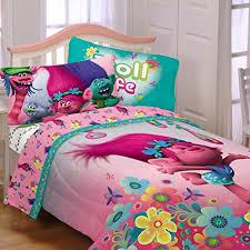Amazon Com Girl Sheet Set 3 Piece Kids Bedding Dreamworks Troll Life Bedsheets Baby