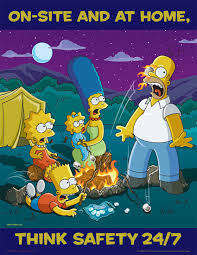 on site and at home think safety simpsons safety posters