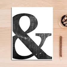 Love And Ampersand Black And White Minimalist Quotation Wall Art Simpl Nordicwallart Com