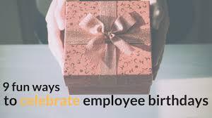 employees on their birthdays