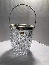 lead crystal silver ring ice bucket