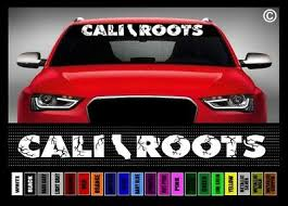 40 Cali Roots California Jdm Norcal Socal Car Decal Sticker Windshield Banner 2 99 Picclick
