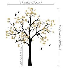 Large Trees Nursery Wall Decor White Tree Wall Stickers For Kids Room Living Room Wall Tattoo Art Murals Diy Self Adhesive Lc581 Wish