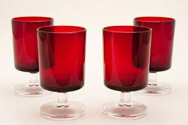 france ruby red wine goblet glasses