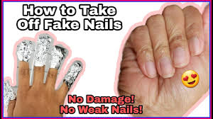 diy how to remove acrylic nails w out