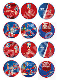 2018 Fifa World Cup Cupcake Toppers Printable Hd Mascota Del
