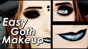 easy goth makeup dark smokey eyes