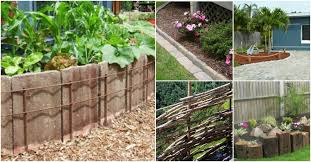 decorative diy fencing and edging ideas