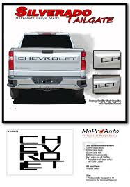 2019 2020 Chevy Silverado Tail Gate Chevrolet Text Decals Vinyl Graphic Kit Ebay