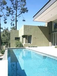 ultra modern pool and patio