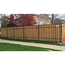 Slipfence 2 In X 3 In X 8 Ft Black Aluminum Fence Rail Kit Sf2 Usk93 The Ho Modern Design In 2020 Aluminum Fence Fence Design Privacy Fence Designs