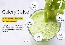 celery juice nutrition facts