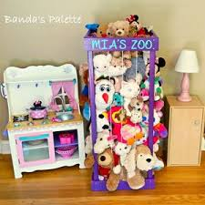 2 32 3 4 Stuffed Animal Zoo Wood Etsy