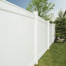 Freedom Ready To Assemble Emblem 6 Ft H X 8 Ft W White Vinyl Flat Top Fence Panel Lowes Com In 2020 Vinyl Fence Panels Vinyl Fence Fence Panels