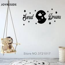 Love Decor Rooms Wall Decal Kids Sleeping Goodnight Wall Stickers Sweet Dreams Nursery Loving Wall Decals Vinyl Mural M227 Wall Stickers Aliexpress