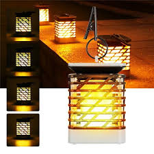 led flame effect hanging lantern light