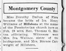 Dorothy Dalton and Ira Williams marriage announcement, The Decatur Herald -  Newspapers.com