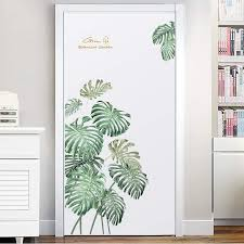 Poorminer Green Plants Fresh Tropical Leaves Wall Decal Nature Palm Tree Leaf Plants Wall