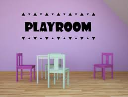 Playroom Triangle Kids Vinyl Art Sticker For Play Room Playhouse Wall Decals Ebay