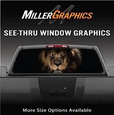 Lion Head Rear Window Decal Graphic For Truck Suv 4 Sizes Ebay
