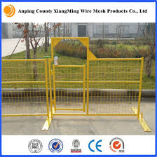 China Canada Temporary Fence Construction Temporary Fencing With Fence Base And Top Clip China Canada Temporary Fence Construction Temporary Fencing