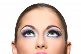 beautiful with colorful makeup