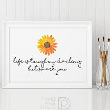 printable quote printable art watercolor painting flower art