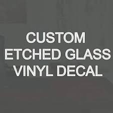 Amazon Com Vwaq Etched Glass Custom Vinyl Decal Personalized Frosted Glass Decal Cs2 1 2 Letter Height Home Kitchen