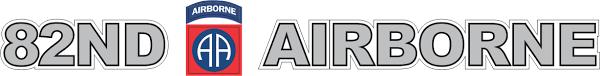 82nd Airborne Window Strip Vinyl Transfer Decal