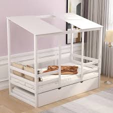 Isabelle Max Hutchins Kids Beach House Twin Canopy Bed With Trundle Wayfair