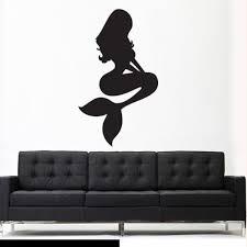Wall Vinyl Sticker Decal Sea Ocean Mermaid Princess Silhouette Nymph Z2752 Ebay