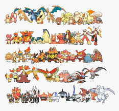 pokemon fire red all pokemons hd png