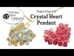 make a crystal heart pendant