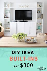 ikea billy bookcase built in