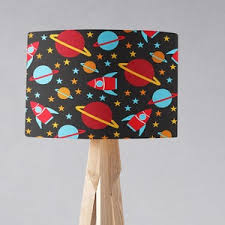 Rocket Lampshade Rocket Bedroom Boys Lamp Shade Boys Light Etsy