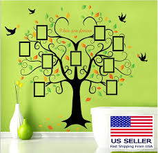 Us Removable Vinyl Wall Decal Family Decor Photo Picture Frame Tree Sticker Home For Sale Online