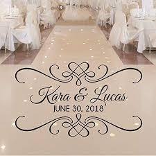 Amazon Com Personalized Wedding Dance Floor Decal Wedding Reception Decor Over 30 Colors And Several Sizes Handmade