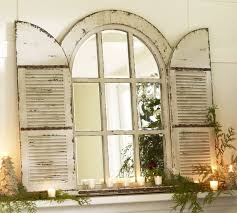 pottery barn arched door mirror large