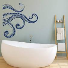 Amazon Com Yoyoga Kraken Octopus Tentacles Vinyl Wall Decal Sea Animal Octopus Vinyl Wall Sticker Bedroom Bathroom Decor Teal 22x22 Inch Kitchen Dining