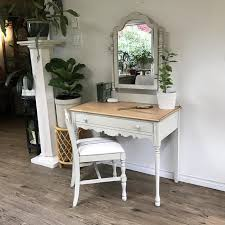 pine vanity desk and chair central