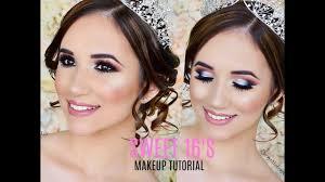 sweet 16 makeup tutorial quinceañera