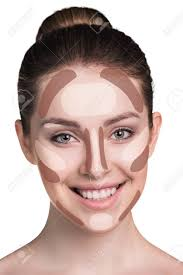 make up woman face contour and