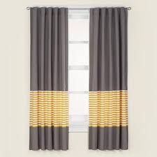 Kids Curtains Kids Grey Yellow Curtain Panels In Curtains Hardware The Land Of Nod Yellow Curtains Yellow And Grey Curtains Kids Curtains