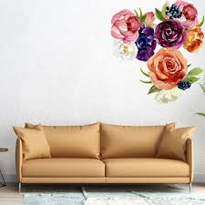 Watercolor Flowers Wall Decals 3 Large Flower Clusters Picture Perfect Decals