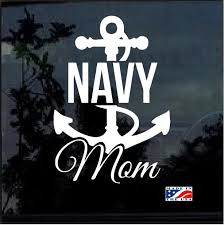 Navy Mom Military Window Decal Stickers Custom Sticker Shop