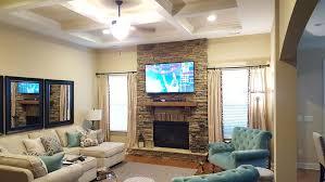 recent fireplace installation utilizing