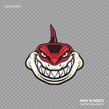 Decal Sticker Red Shark Attacks Apnea Ocean Top Quality Vinyl Etsy