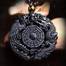 black obsidian stone phoenix dragon